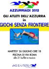 AZZURRIADI 2012 IL 26 GIUGNO NELLA PISCINA DI VIA ROMA